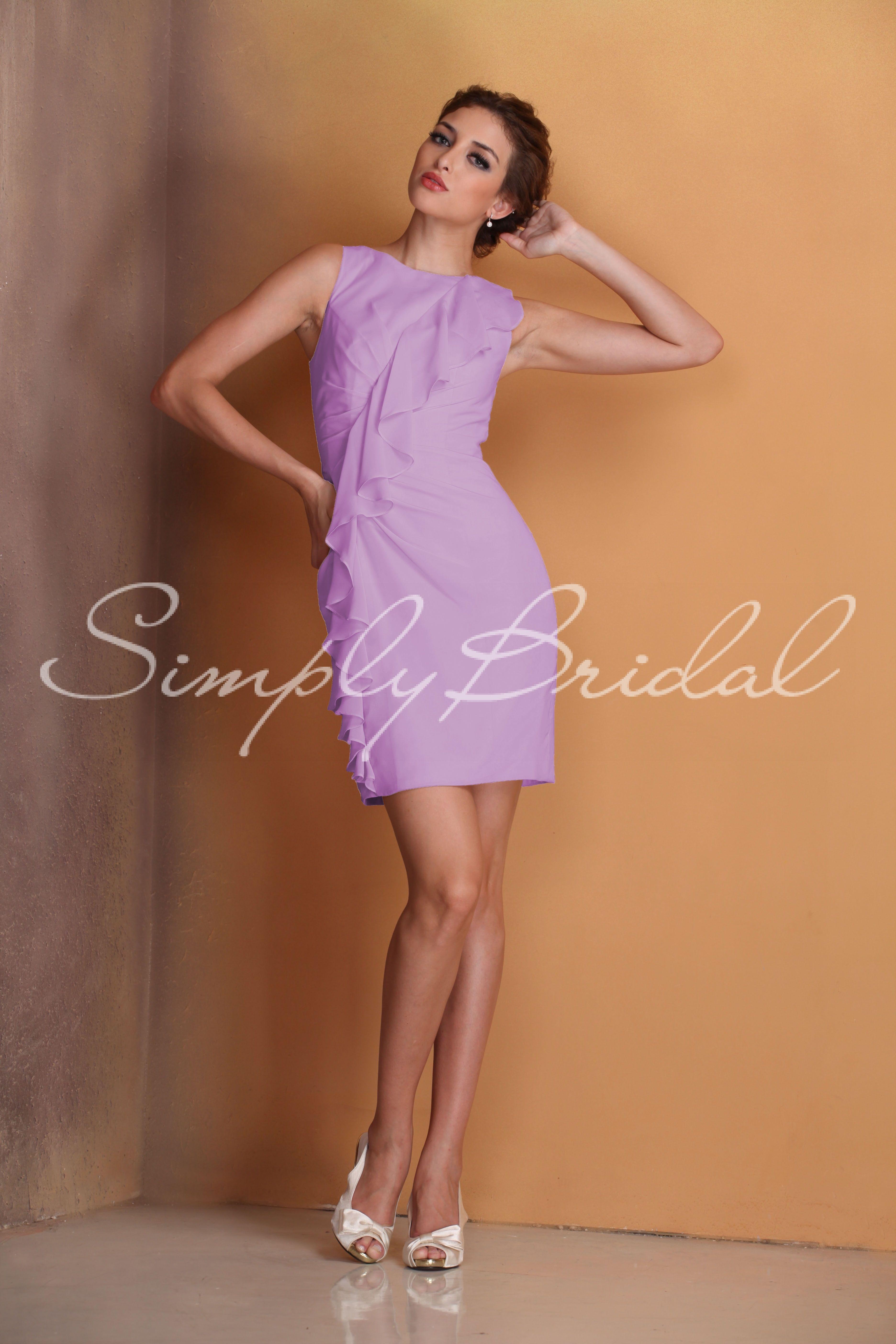 short fitted chiffon dress with ruching wedding stuff