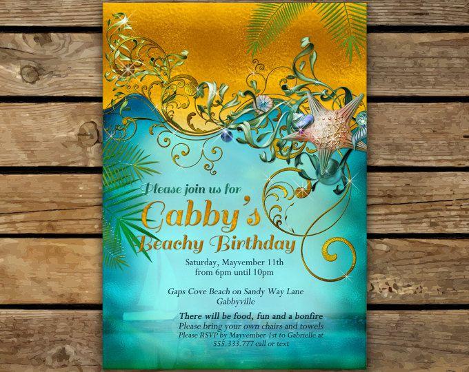 Birthday invitations beach invitations beach party birthday birthday invitations beach invitations beach party birthday invitations invitations filmwisefo