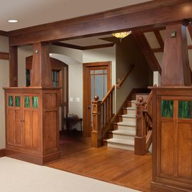 craftsman staircase by Andrew Melaragno #craftsmanstylehomes