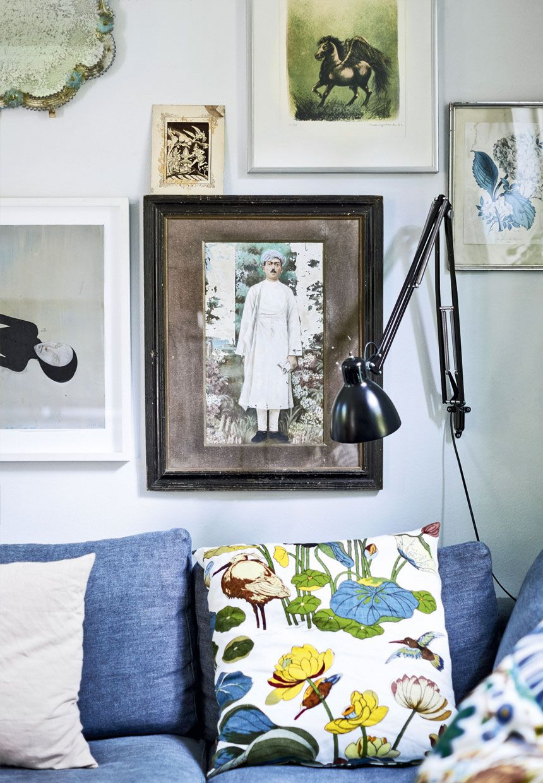 Binnenkijken in een Deens interieur met veel kunst - Deens interieur ...