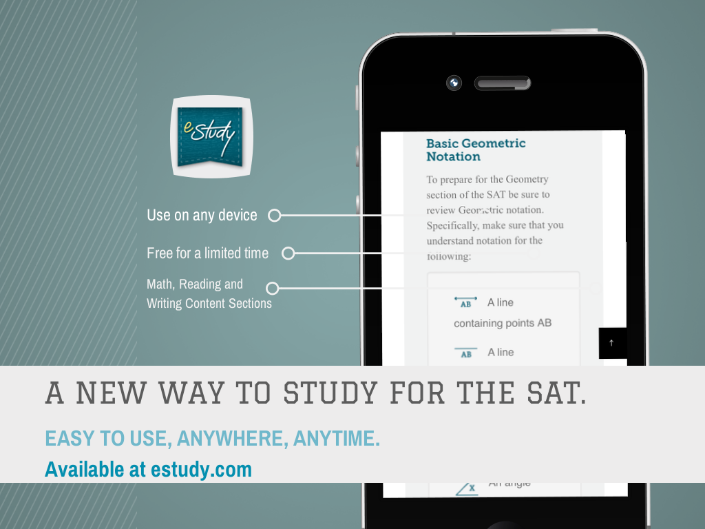 estudy.com is launching a free SAT prep course. Follow us for an alert when its released in February of 2014.