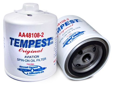 tempest oil filters from aircraft spruce airplane oil. Black Bedroom Furniture Sets. Home Design Ideas