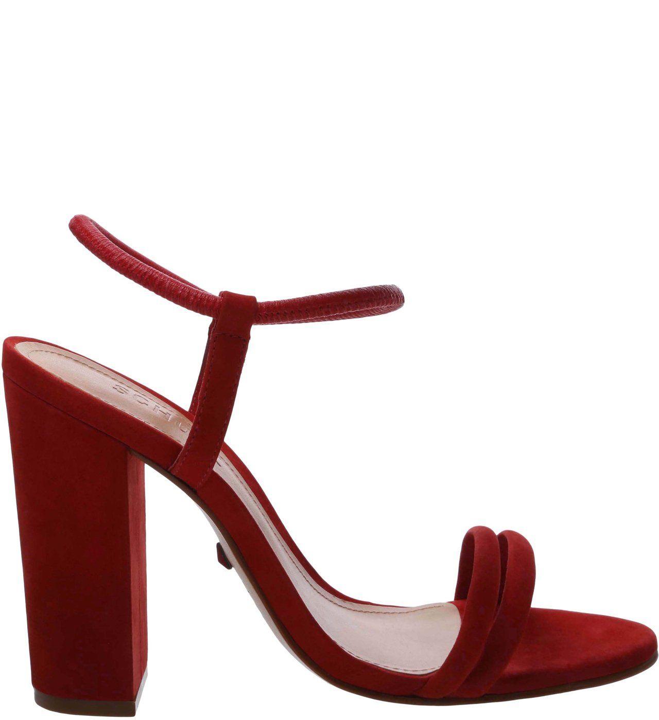 Sandália Salto Bloco Strings Red | Schutz | Sapatos para