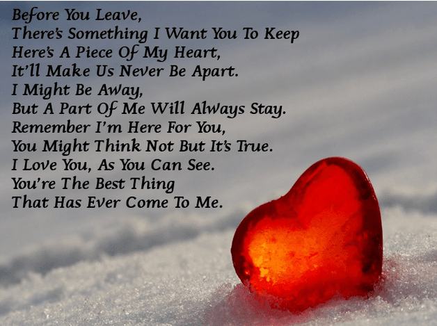 Deep I Love You Always Poems for Him From the Heart | Love ...
