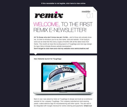 A pile of newsletter designs that you can click and see the whole ...