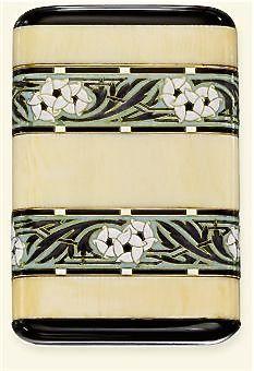 Art Deco ivory, enamel and onyx cigarette case, by Boucheron