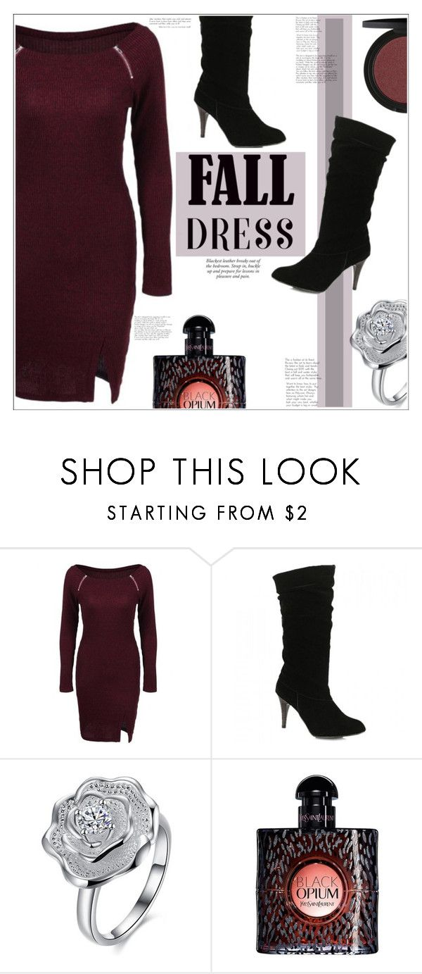 """""""Fall Dress"""" by mycherryblossom ❤ liked on Polyvore featuring Yves Saint Laurent"""