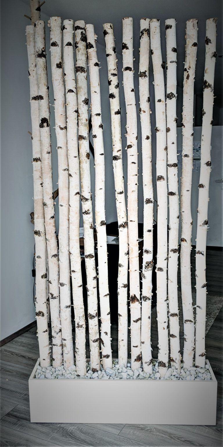 Raumtrenner Aus Birkenholz Diy Gartendekoration Birke Holz Diy Gartenmobel