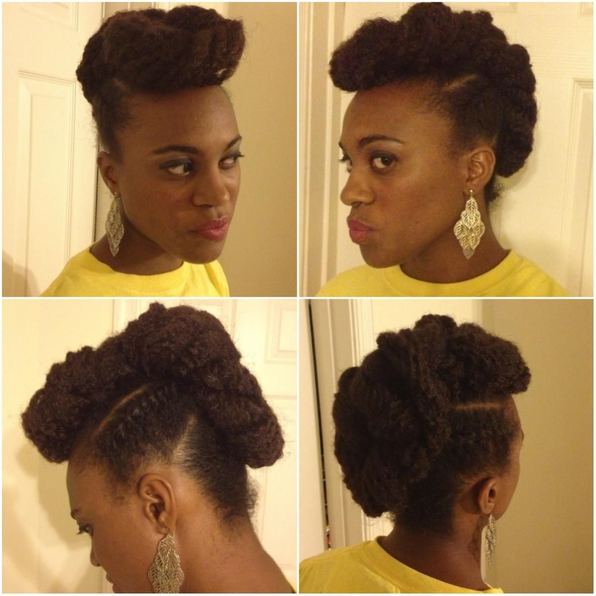 updo with marley hair added natural hair styles | hurr | pinterest