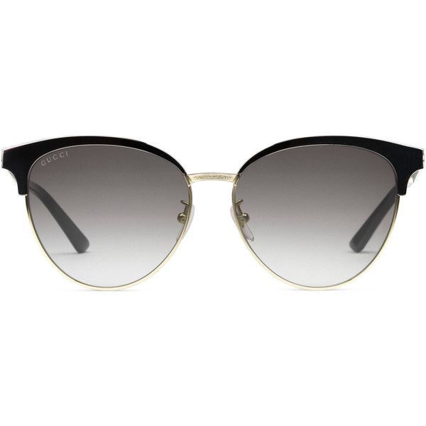 25ded4f85c19a Gucci Cat Eye Acetate And Metal Sunglasses ( 385) ❤ liked on Polyvore  featuring accessories