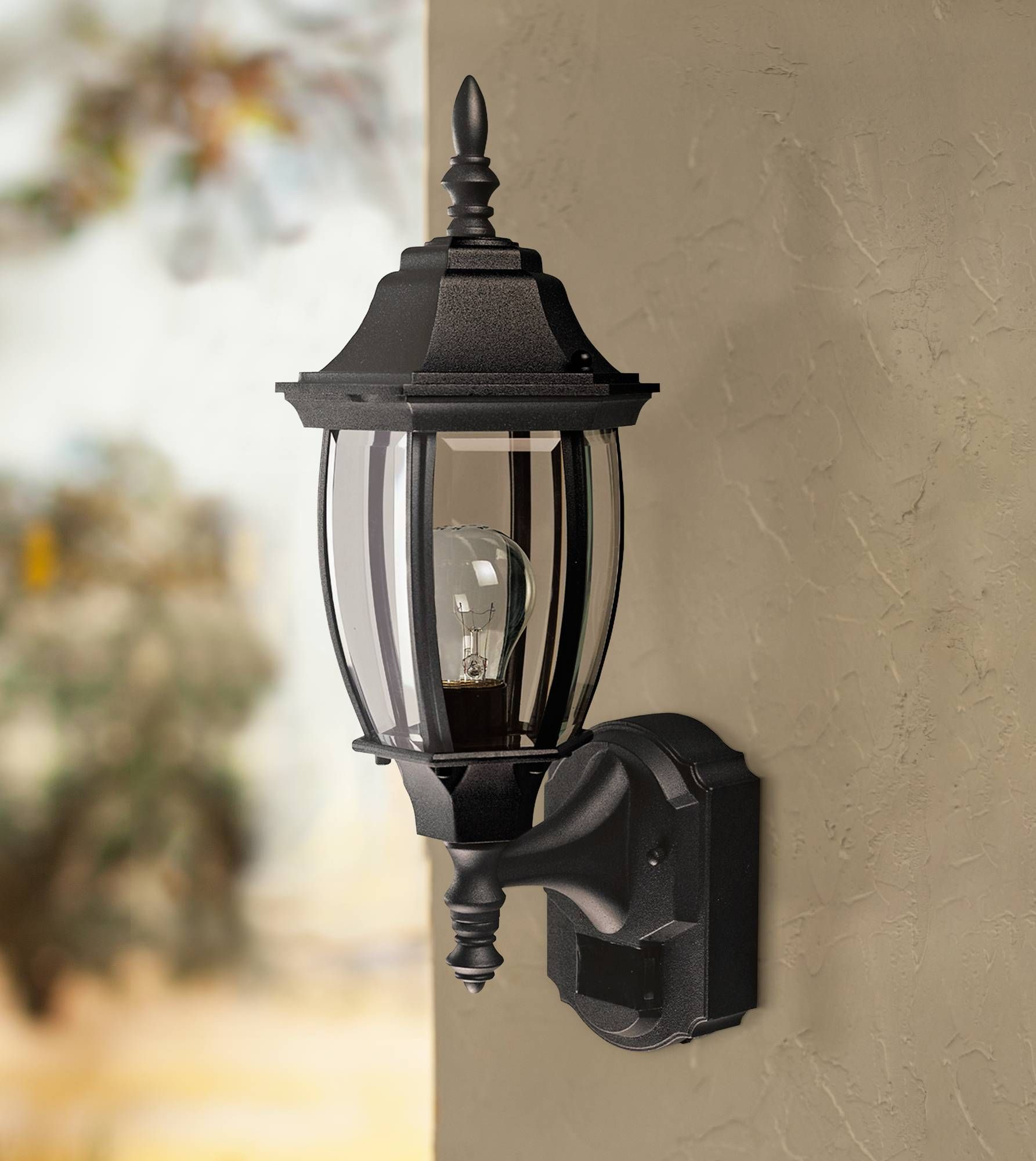 Alexandria 18 12 high motion sensor outdoor light in black style alexandria 18 12 high motion sensor outdoor light in black h7004 lamps plus mozeypictures Image collections