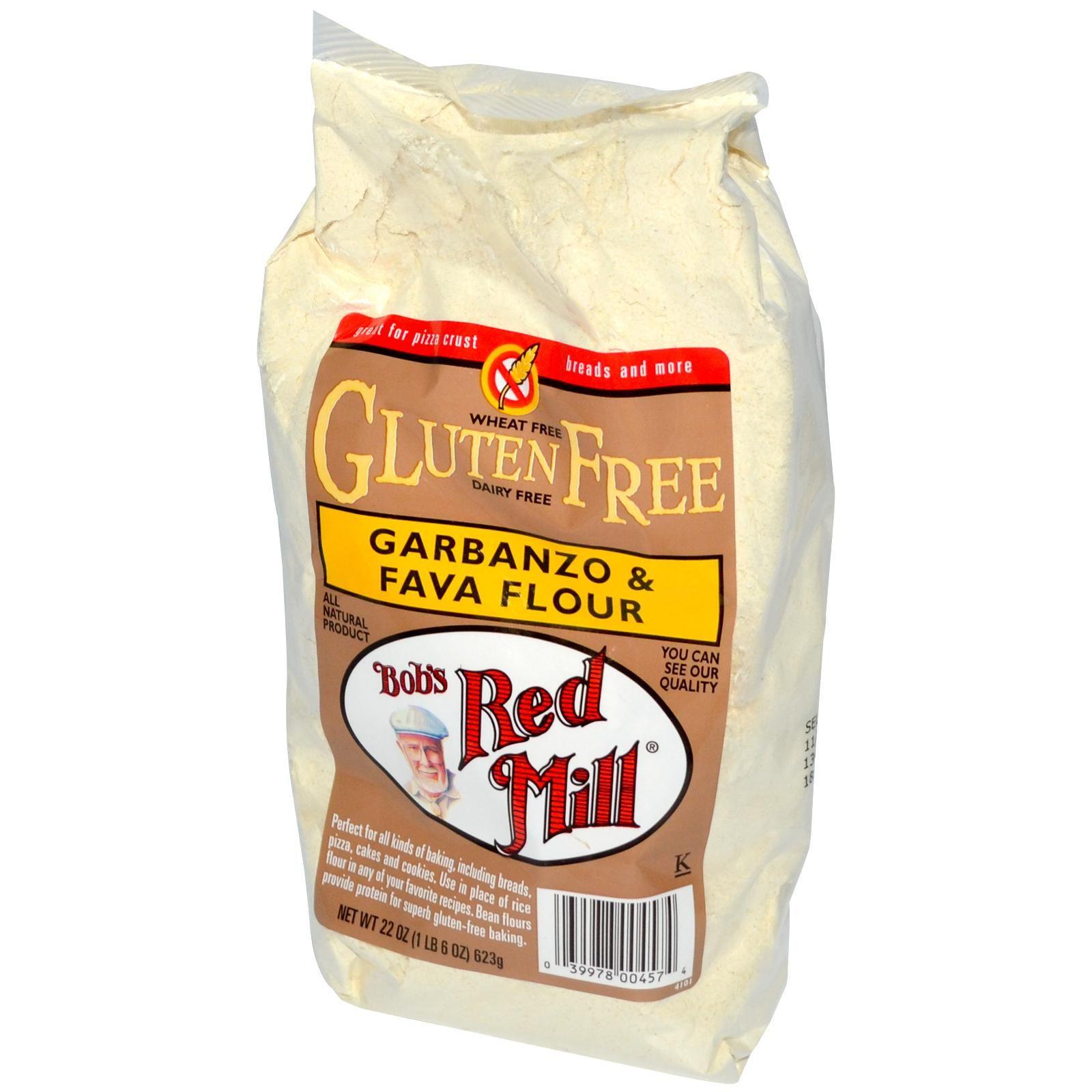 Bob's Red Mill, GF Garbanzo & Fava Flour, 22 oz (623 g