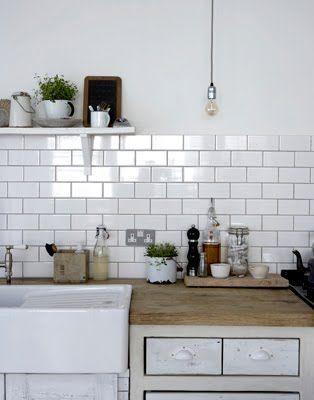 White metro tiles kitchen | Kök | Pinterest | Metro Tiles, Tile ...