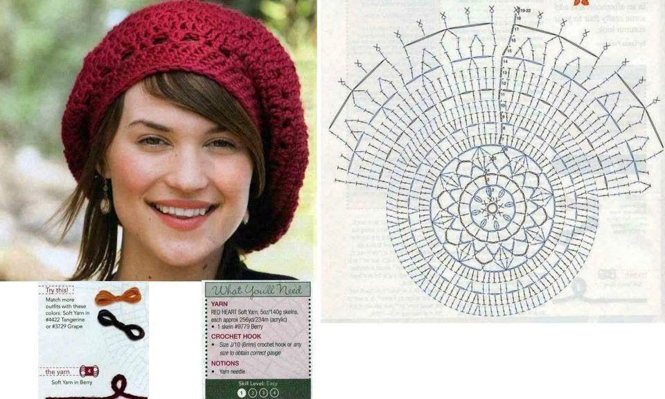 Patrón #414: Boina a Crochet ~ CTejidas [Crochet y Dos Agujas ...