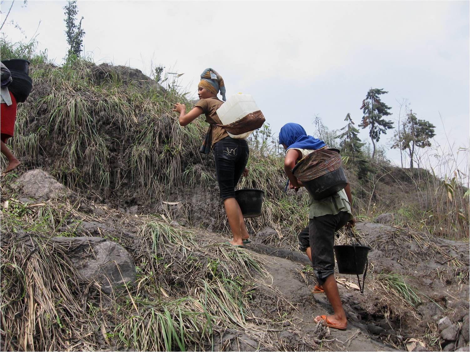 Water halen in Indonesië
