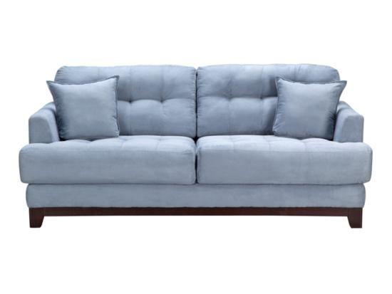 Calypso Blue Sofa   Value City Furniture #ValueCityPinToWin