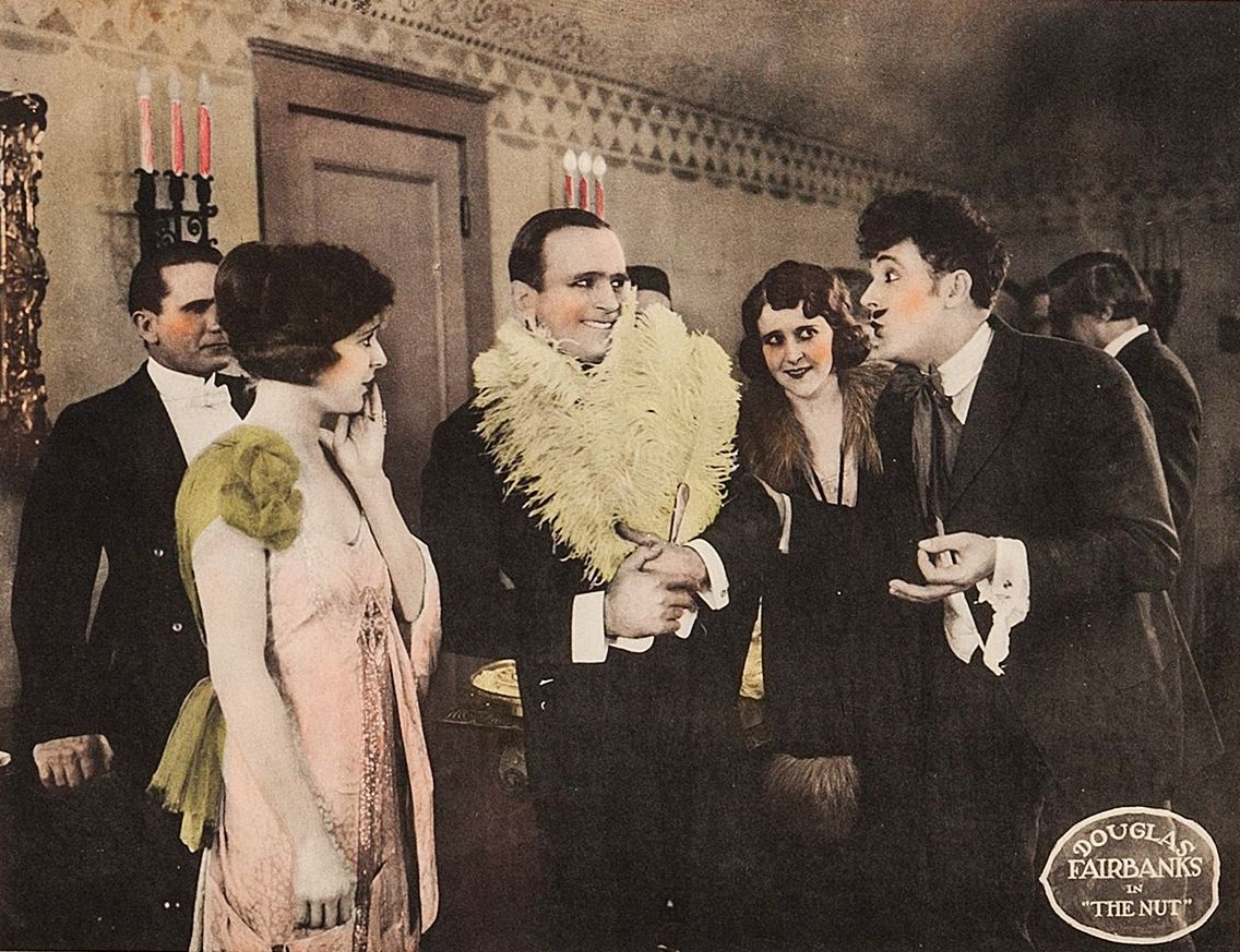 Marguerite De La Motte and Douglas Fairbanks get nutty in 1921′s The Nut