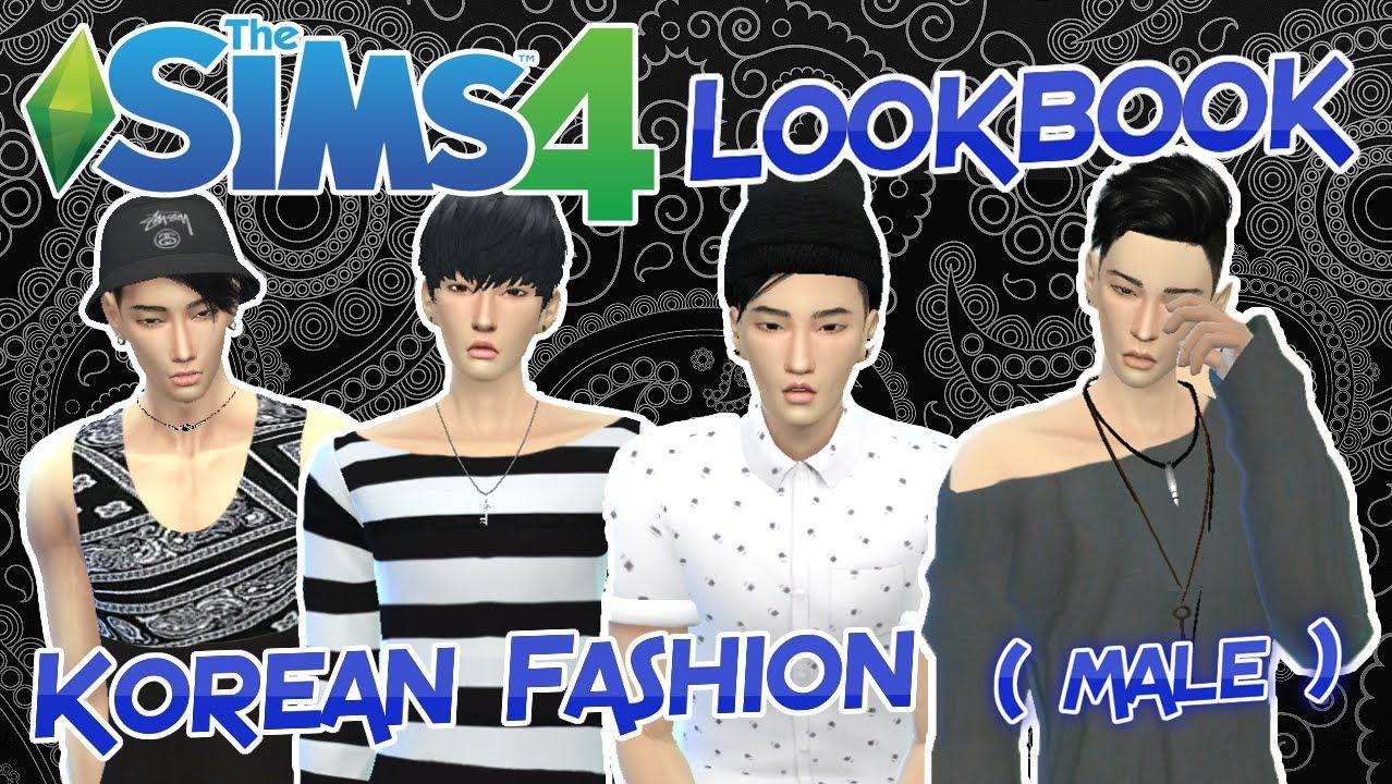 The Sims 4 Lookbook Korean Fashion Male Sims 4 Korean Fashion Sims