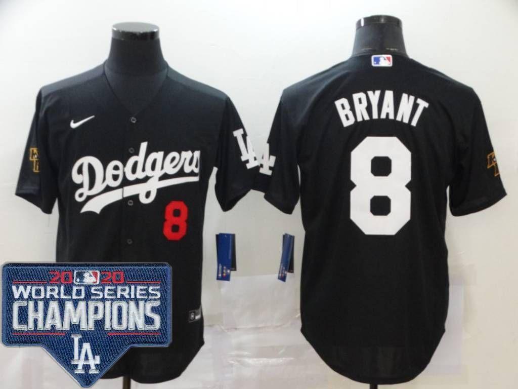Kobe Bryant Jersey Black Los Angeles Dodgers Jersey Wolrd Series ...