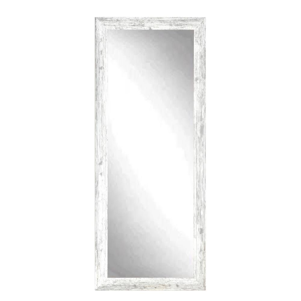 BrandtWorks Farmhouse Pearl White Floor Mirror