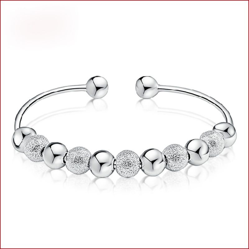 Romantic Pulseras De Plata 925 Bracelet Women Round Beads Silver Braclet Braslets Bangles Pulseira Pulseras For Lovers Gifts #Affiliate