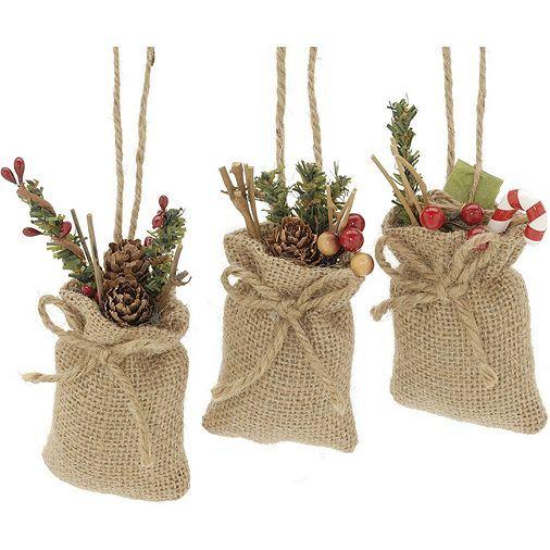 Tesco Direct: Festive Foliage Hessian Sack Christmas Tree