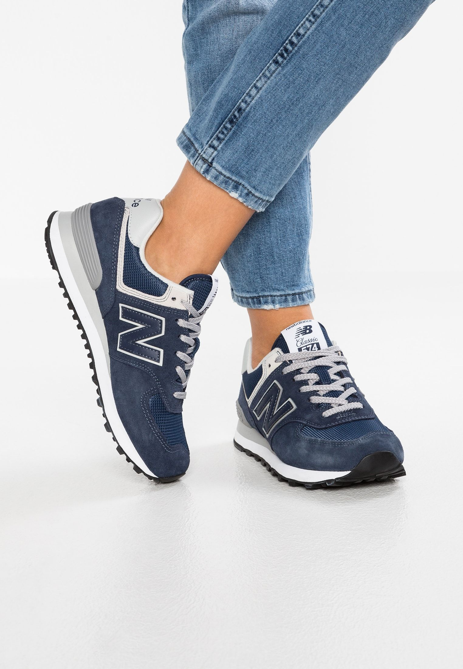 New Balance WL574 - Sneaker low - navy - Zalando.de ...