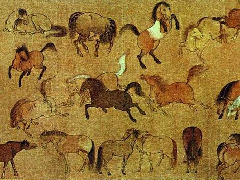 Paintings of the Jin and Tang Dynasties - China culture AD 317 - 907 Yan Liben, Wu Daozi, Han Gan, Han Huang,