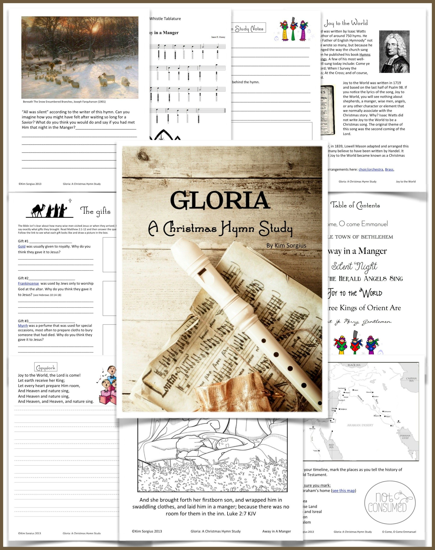 Gloria: A Christmas Hymn Study   Learning, Homeschool and School