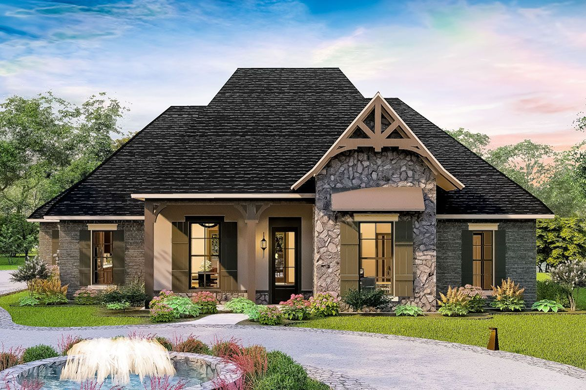 Plan 62148v One Level European Home Plan With Garage Workshop Cottage Style House Plans European House Cottage Style Homes