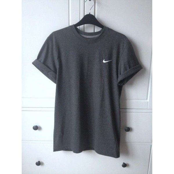 c87c75bcd7 Shirt  grey nike top clothes oversized t- t- adidas black loose t-... ❤  liked on Polyvore featuring tops