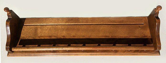 Vintage Ethan Allen Nutmeg Maple Wood Shelf W Rail