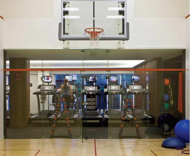 The Fitness Center Even Has It S Own Basketball Court Uppereastside Ues Nyc Manhattan Luxuryamenities Condo Luxury Amenities Basketball Court Basketball