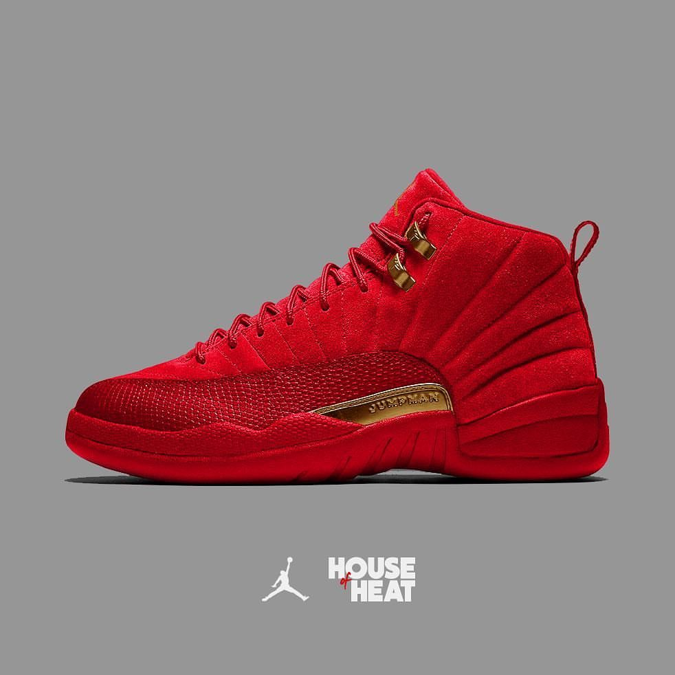 "House of Heat on Instagram: ""• Would y&#39;all COP or DROP a Red Suede Air  Jordan 12?  <div class="