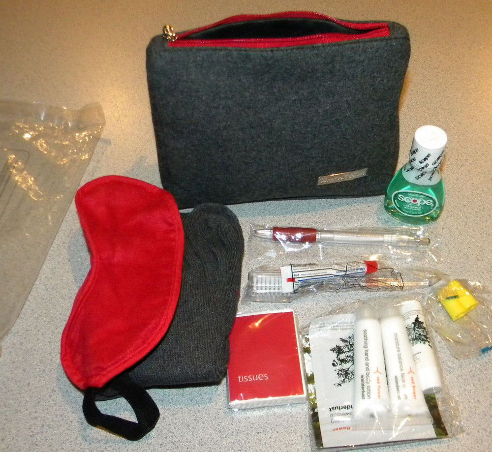 AA American Airlines First Class passenger amenity kit