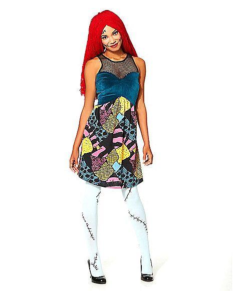 NWT Disney Store Girls Sally Nightmare Before Christmas Halloween Costume