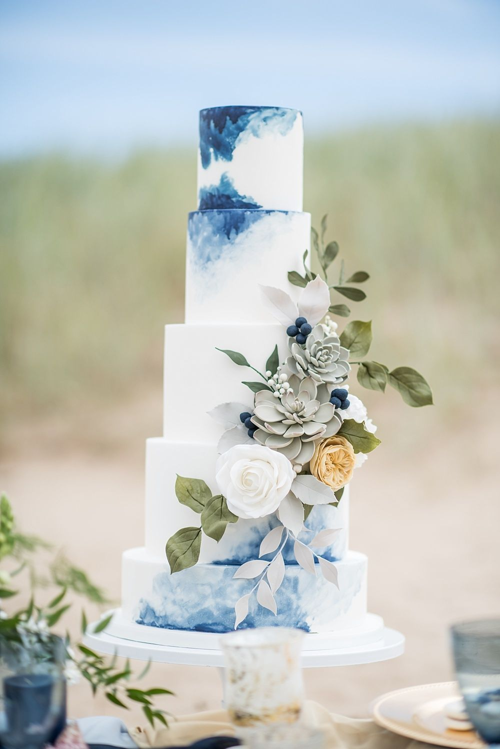 A styled beach wedding bridal shoot on the north west