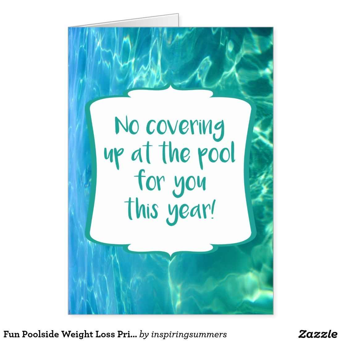 Fun Poolside Weight Loss Success Congratulations Greetings Card