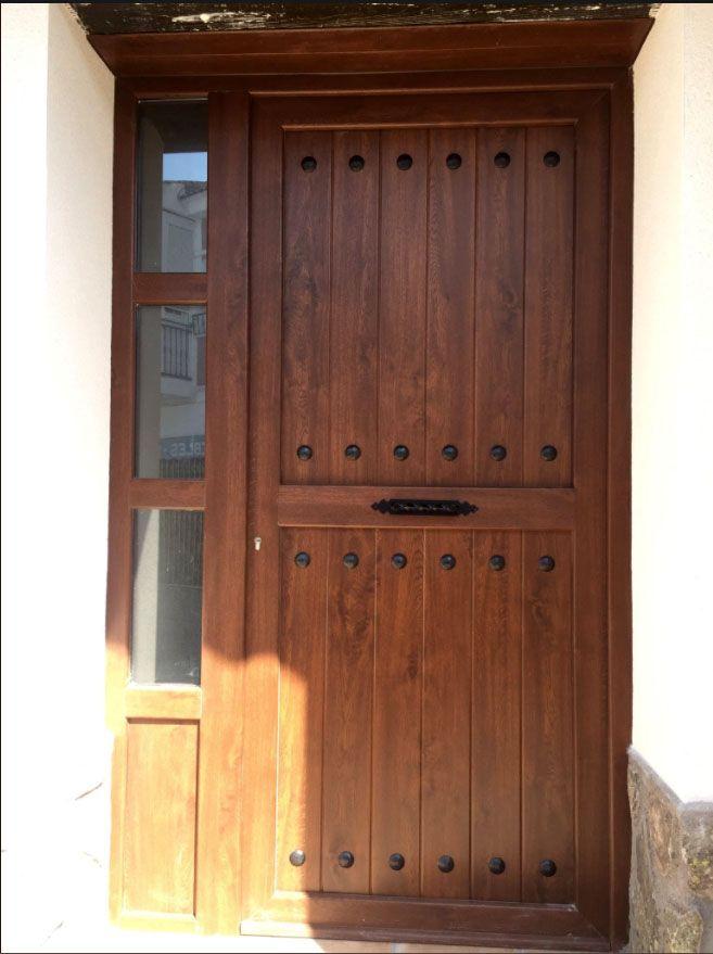 Ip3 5line aluminio foliado indupanel paneles puertas for Puertas principales de madera rusticas