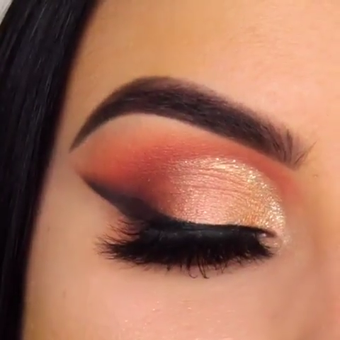 Desert Sunset Eye Makeup – Maquillaje