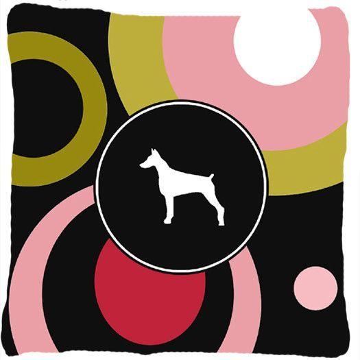 Doberman Decorative Canvas Fabric Pillow