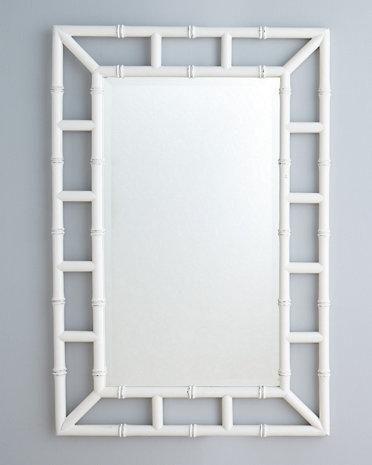 mirrors fauxbamboo mirror i garnet hill faux bamboo mirror white faux