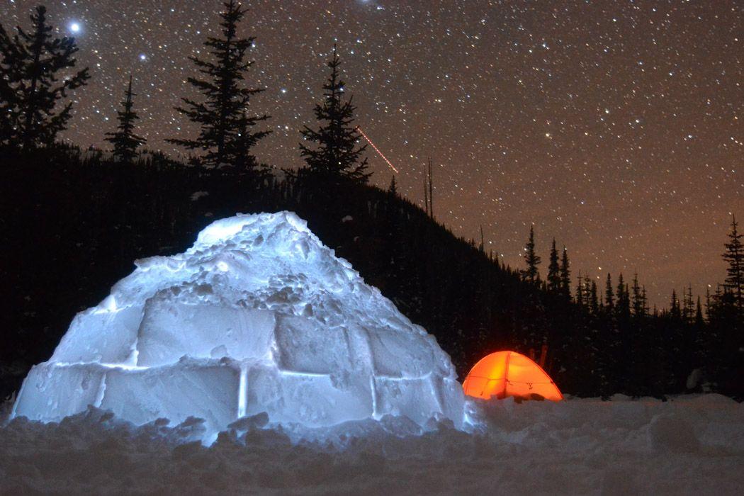 Bildresultat för tent snow night