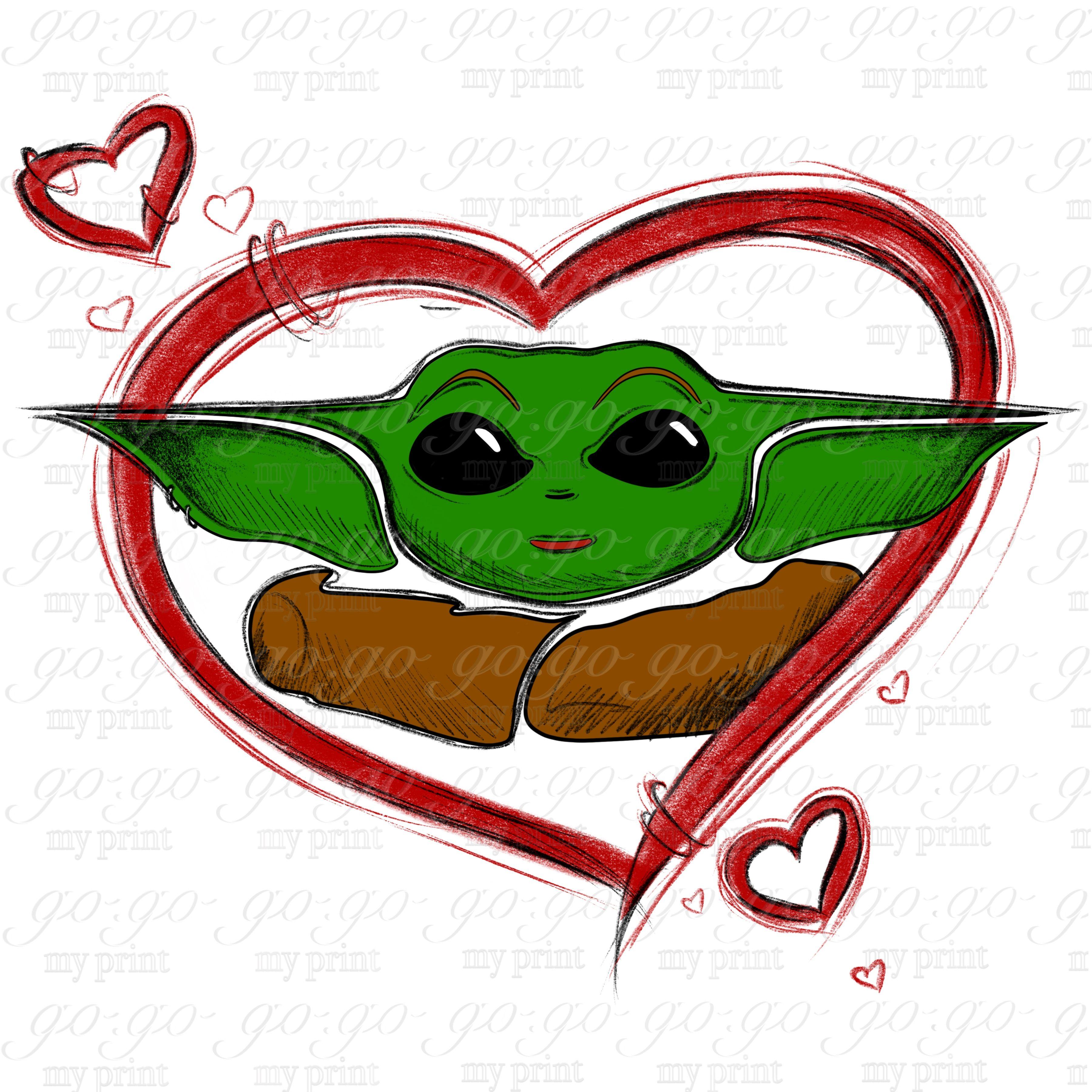 Baby Yoda Sublimation Yoda Baby Png Star Wars Baby Yoda Png Valentine Png Yoda Png Yoda Valentine Cards Yoda Art
