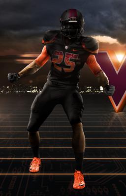 The best looking Jersey for VT hokies Virginia tech