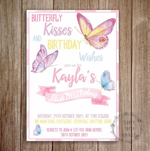 Butterfly Invitation 1st Birthday