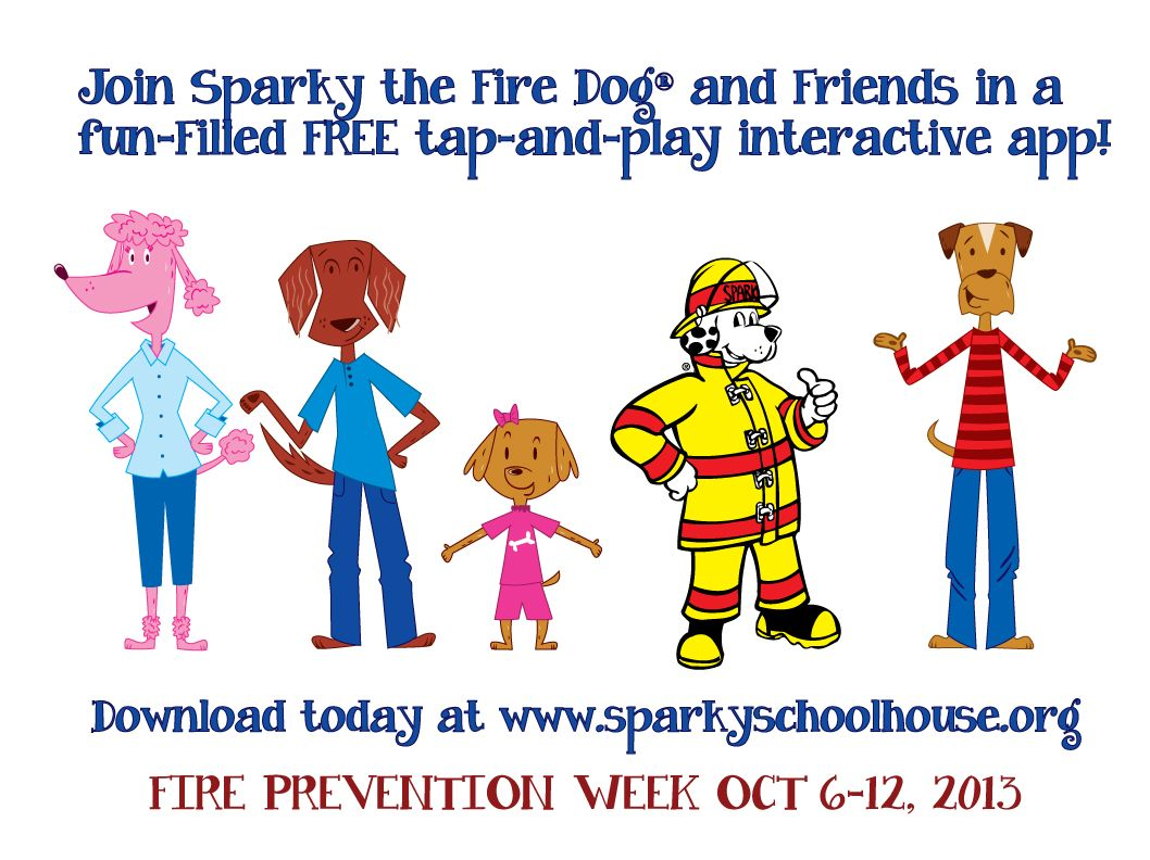 Sparky's Home Fire Inspection Checklist Kids' Activities