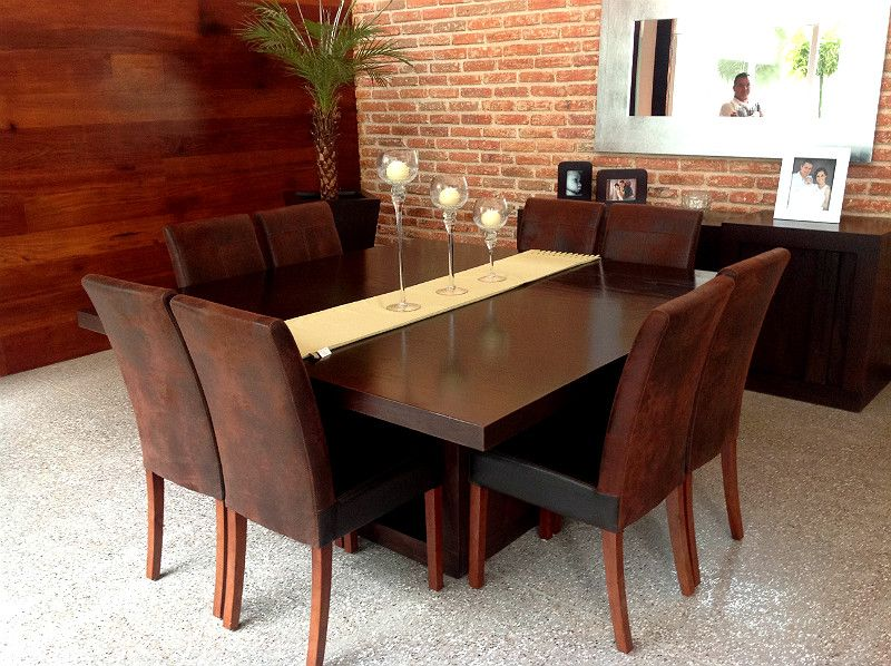 Comedor moderno de 8 sillas google search comedor for Comedores modernos chocolate