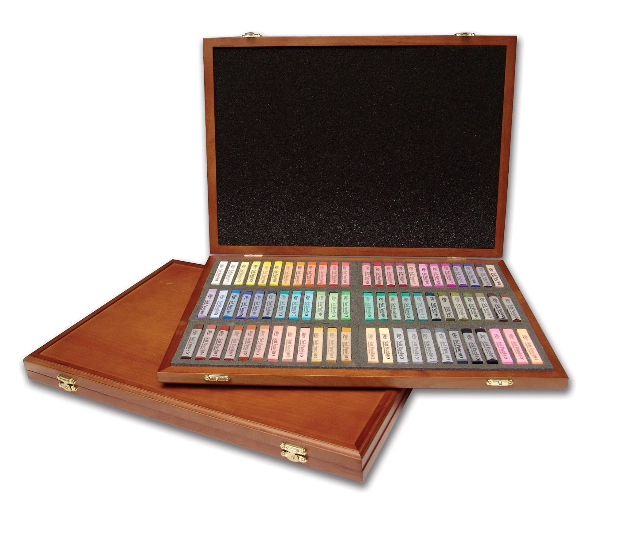 Mungyo Gallery Oil Pastels Wood Box Set of 72 Standard Assorted Colors