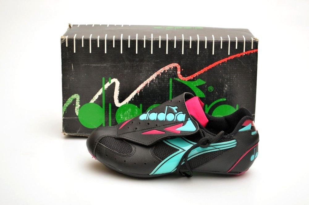 Vintage Diadora 039 Selecta 039 Neon Road Cycling Shoes 80s 90s Nos Uk 7 Deadstock Vintage Adidas My Ebay Cycling Shoes